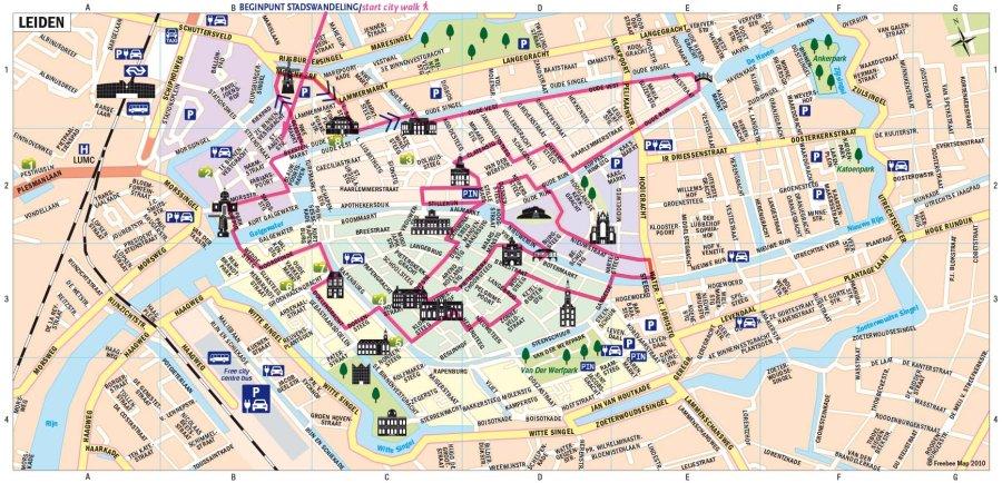 Stadswandeling in Leiden - Freebee Map